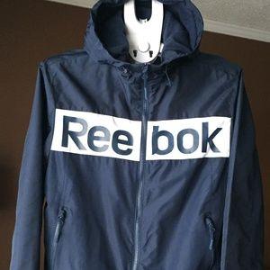 REEBOK Wind/Rain Jacket, Fleece Lined, size S